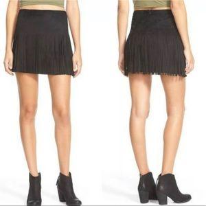 NWOT! JOLT Boho Soft Faux Suede Fringe Skirt.